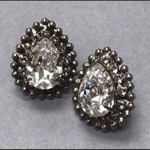 Large Sorrelli Pear Crystal Earrings,NWT